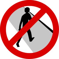 No Crossing Sign, guarding your boundaries