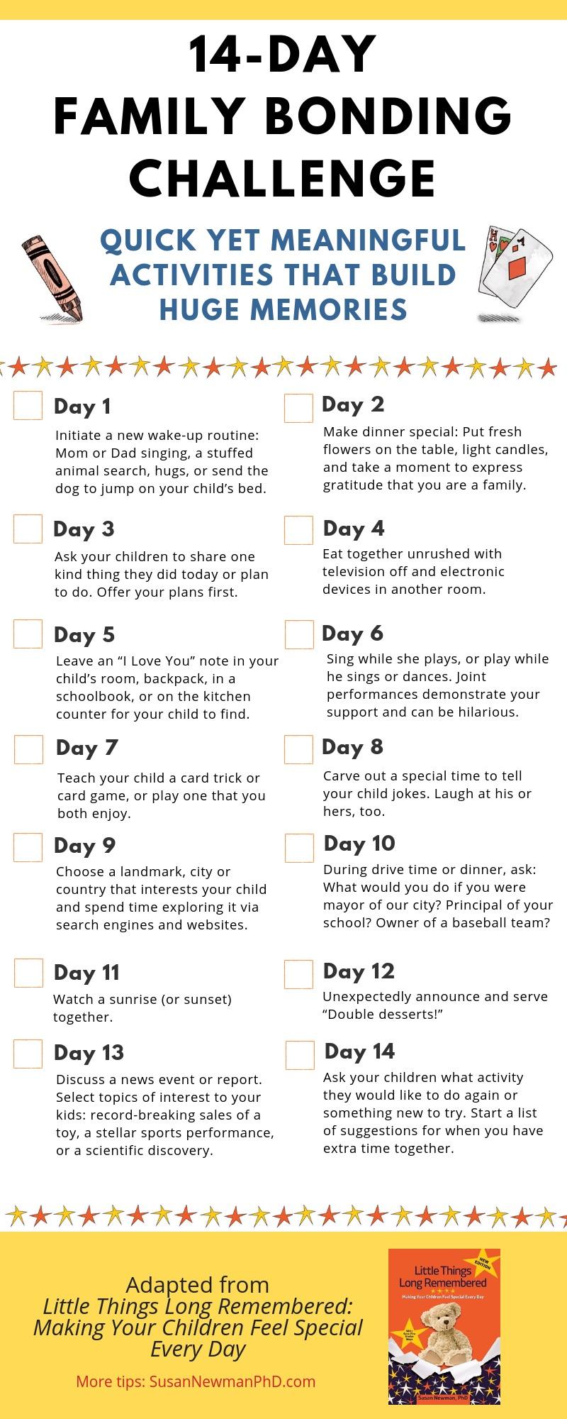 14 day family bonding challenge